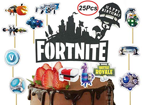 BestBalloons Fortnite Video Game Cake Topper 7 inch Fortnite Birthday Cake Topper and Video Game Party Supplies