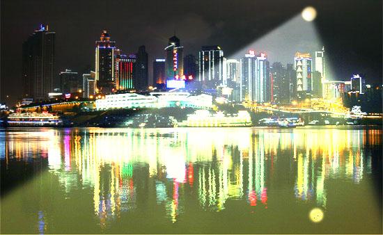 Cidade Iluminada Lua Artificial