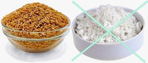 Comer arroz integral o arroz blanco
