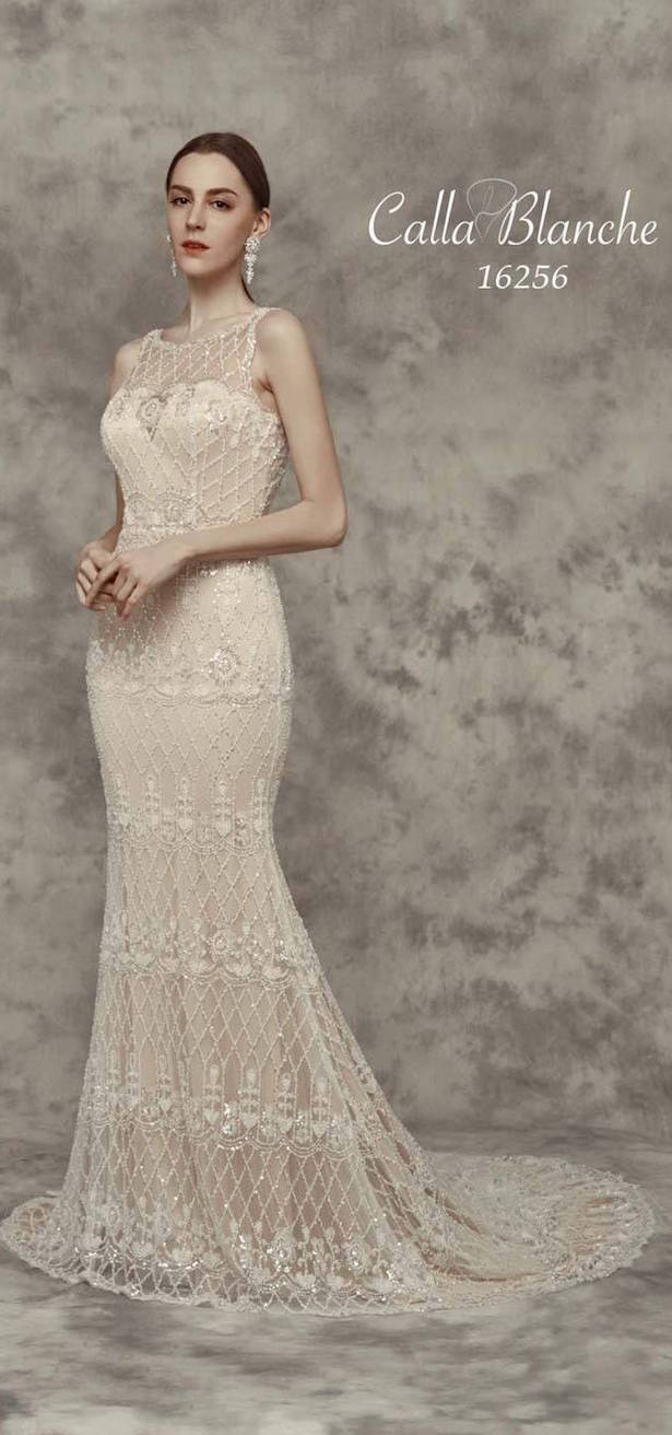 Vestido de novia con encajes