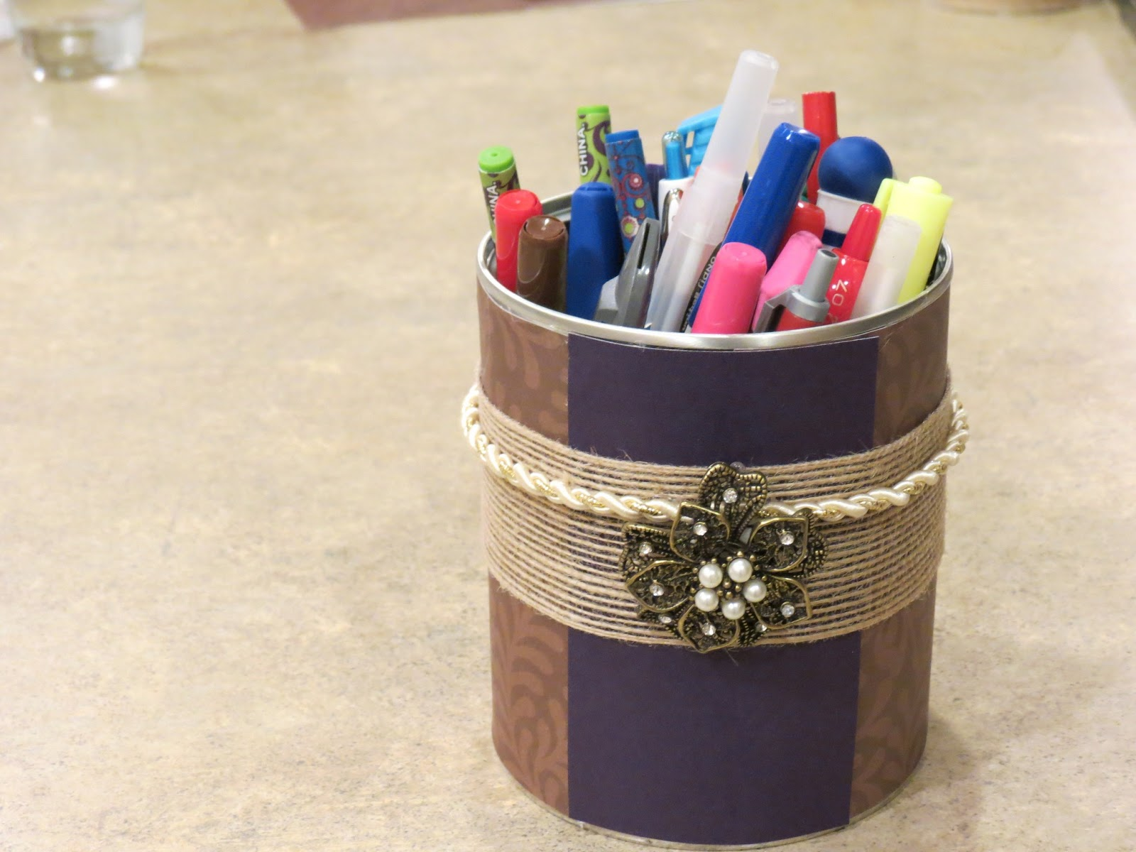 Chic Mama Chick: DIY Pencil Holder: Formula Cannister/Tin ...