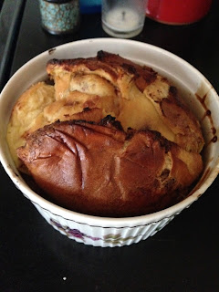 Choc Chip Brioche Pudding