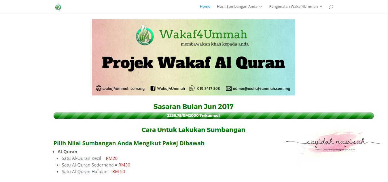 Wakaf4Ummah - Projek Wakaf Al-Quran