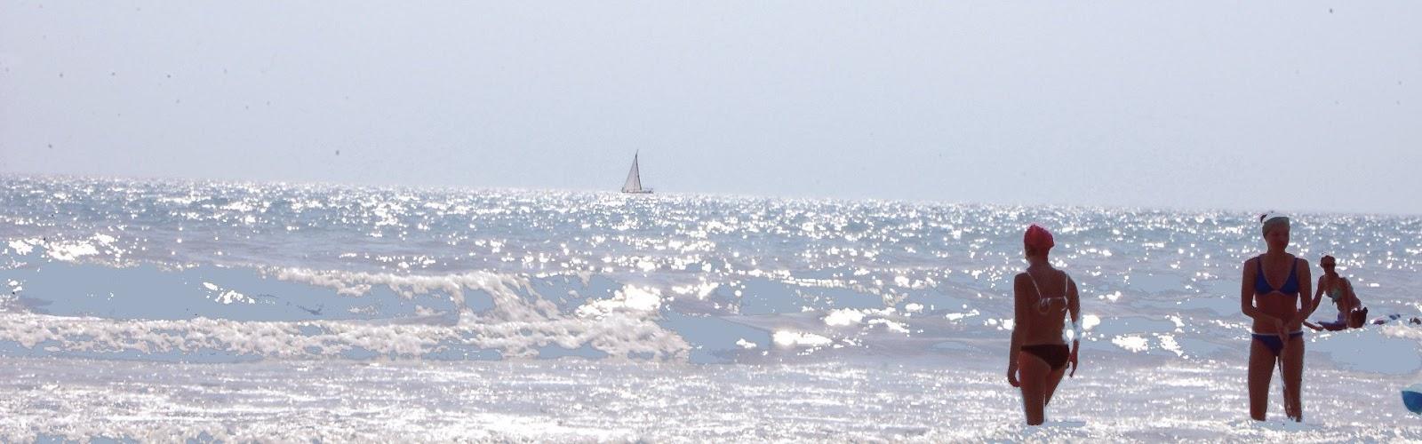 Пляжный отдых на Черном море.