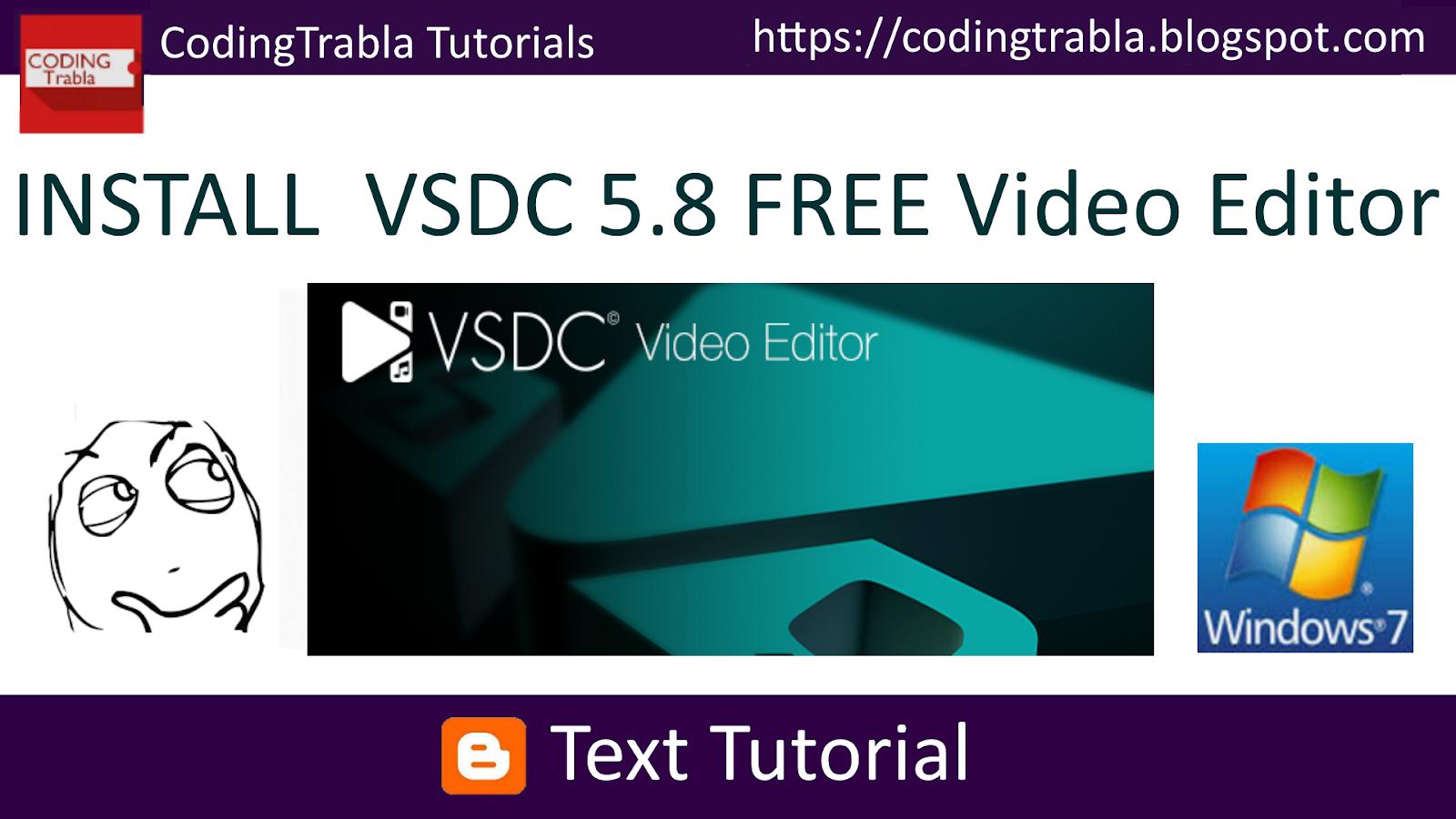 codingtrabla: Install VSDC 5 8 Free video editor on Windows