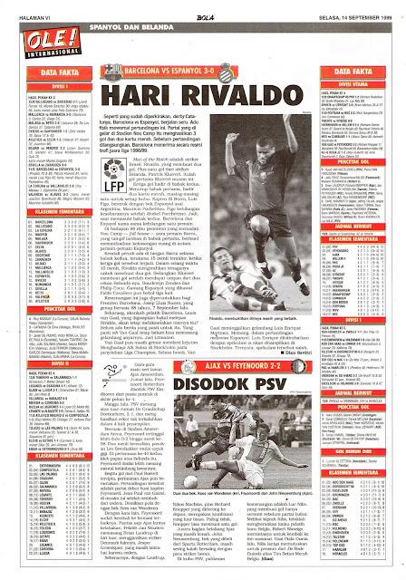 BARCELONA VS ESPANYOL 3-0 RIVALDO'S DAY