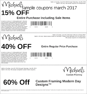 Michaels coupons march