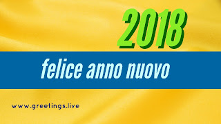 "Yellow  colour BG Happy New Year  in Italian Language greetings  is "" felice anno nuovo"""