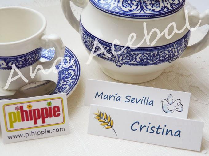 Decoración Comunión Identificador mesa personalizado original