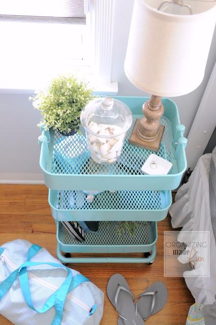 IKEA Raskog for a nightstand :: OrganizingMadeFun.com