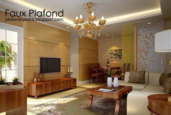 conceptions pop de plafond pour le salon faux plafond platre suspendu et tendu. Black Bedroom Furniture Sets. Home Design Ideas