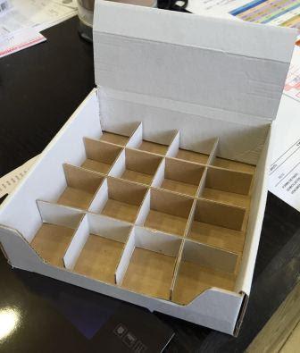 caja expositora sin impresion y con separadores