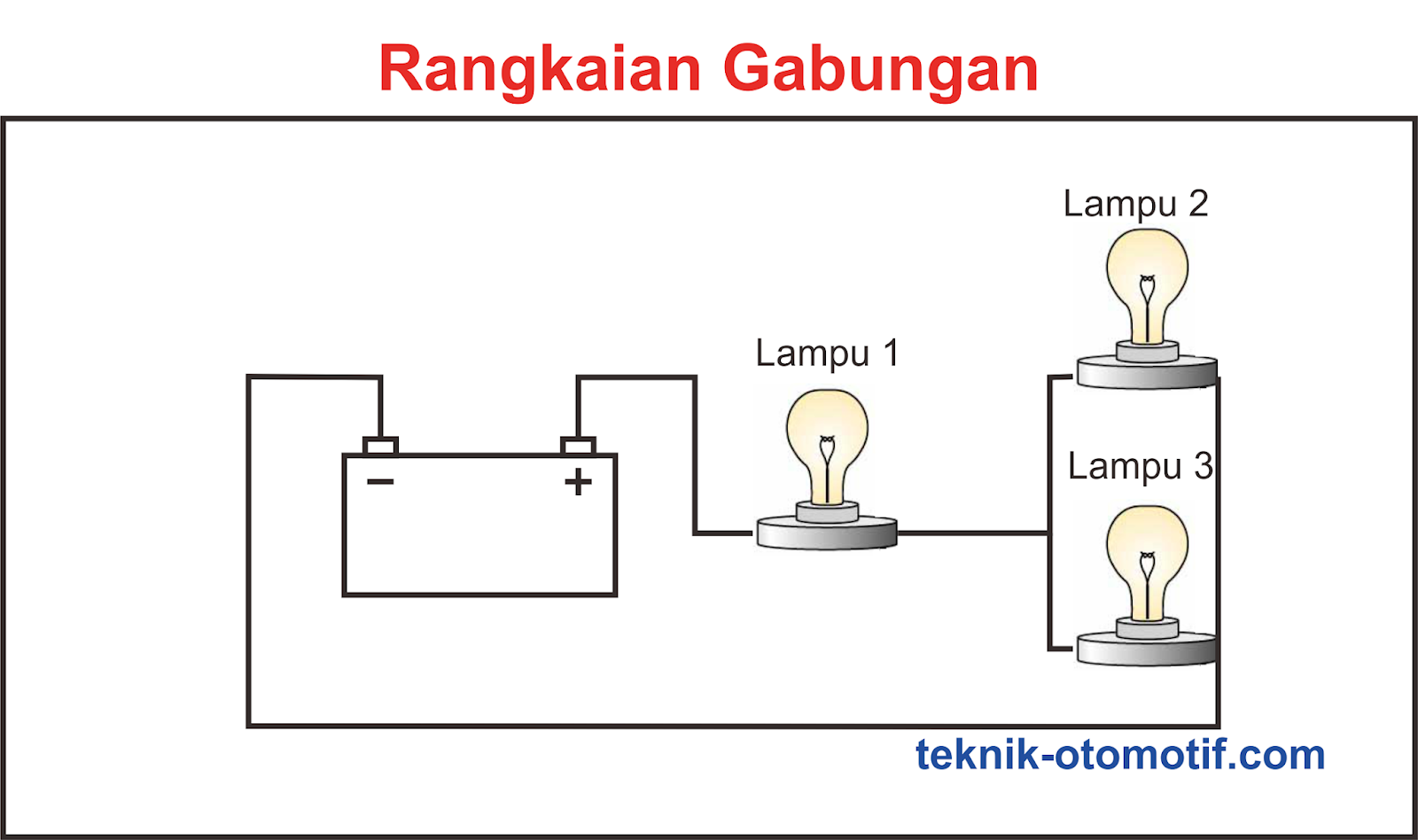 Contoh Soal Dan Contoh Pidato Lengkap Gambar Rangkaian Listrik Paralel 3 Lampu
