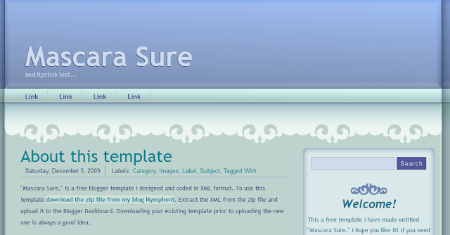 Simple Blue Blogger Template