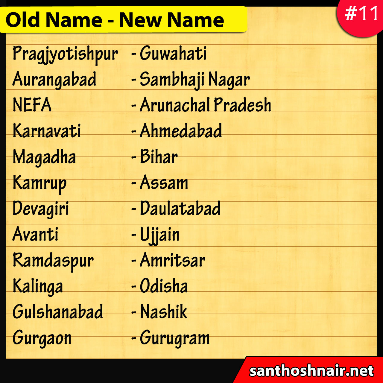 #11 - Old Names and New Names