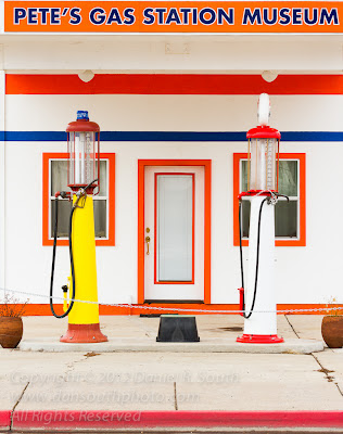 a photo of an antique gas station on historic route 66 in arizona