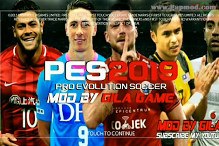 FTS Mod PES 2019 Asia by Gila Game Apk Data Obb Download