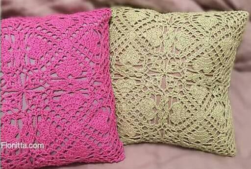 Patrón #1599: Cojín a Crochet