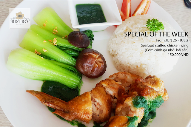 Seafood stuffed chicken wing - 150.000 VND