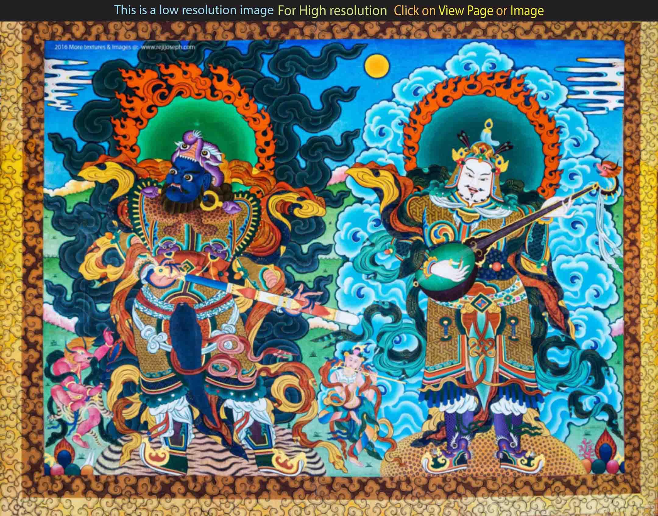 Buddhist art wall painting 006