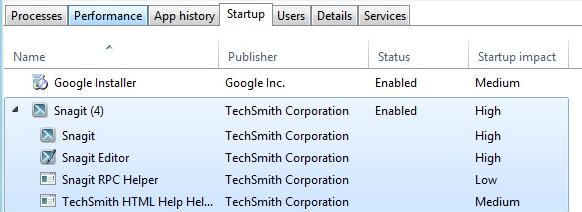 Startup Item windows 8