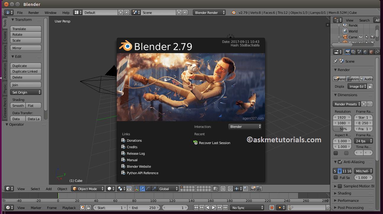 Install Blender 2 79 On Ubuntu / LinuxMint Via PPA