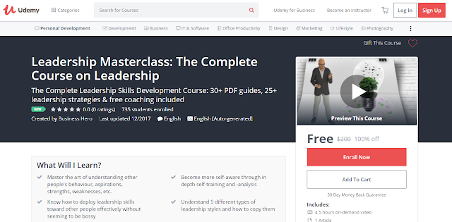 Leadership Masterclass: The Complete Course on Leadership