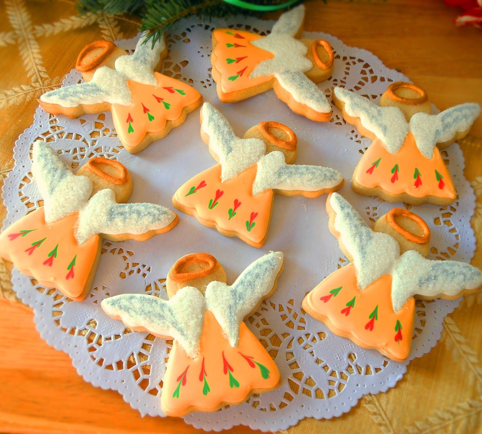 Sugar Water For Christmas Tree: My Cookie Clinic: CHRISTMAS ANGEL COOKIES/ What's An Angel?