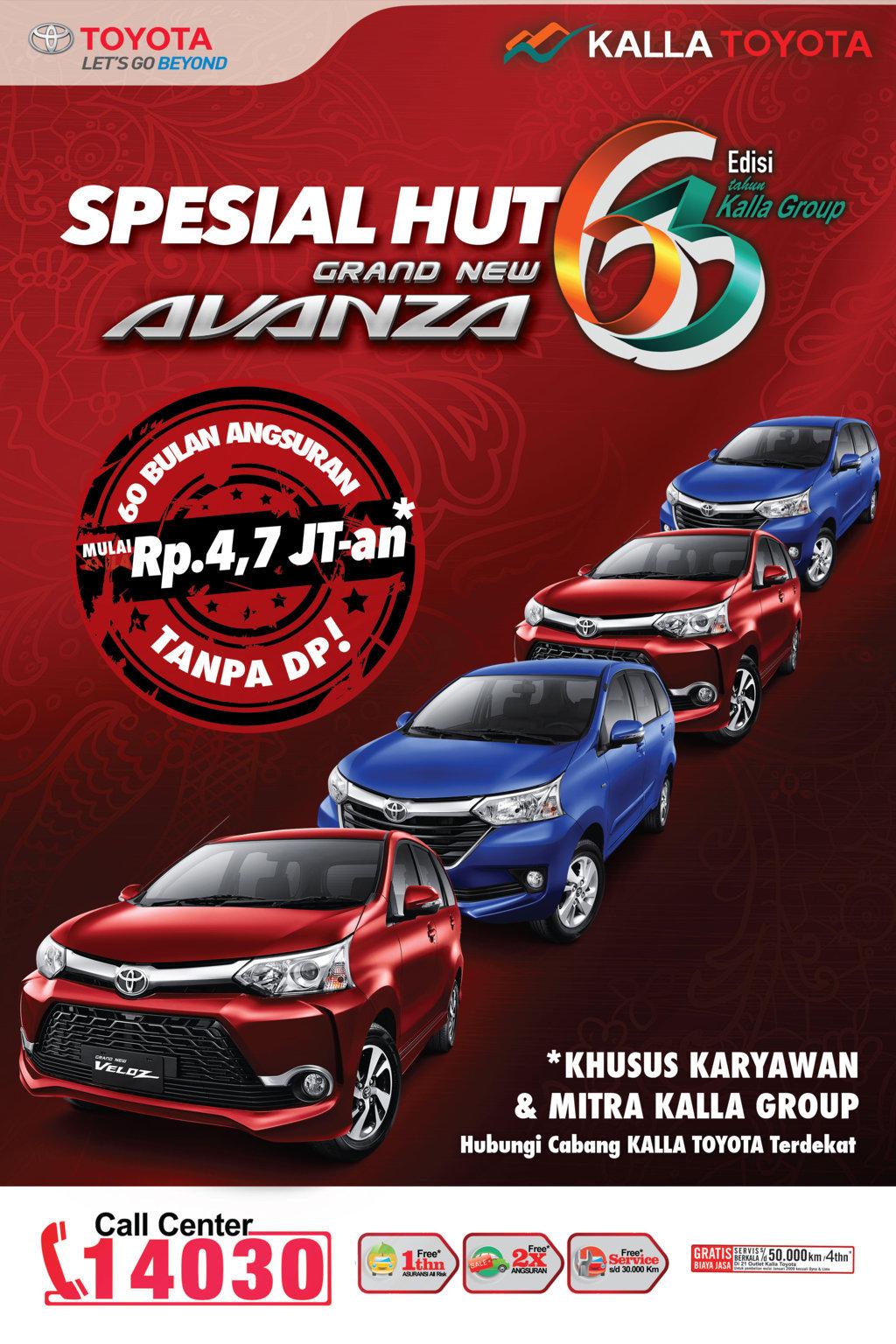Harga Grand New Avanza Makassar Agya Trd Merah Pt Hadji Kalla Toyota 2016 Info Promo Diskon Kredit Ulang Tahun 2015