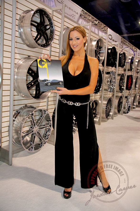 Jordan Carver stops by our booth #SEMA 2010 – Giovanna ...