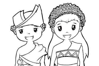 Mewarnai Gambar Pakaian Adat Bali