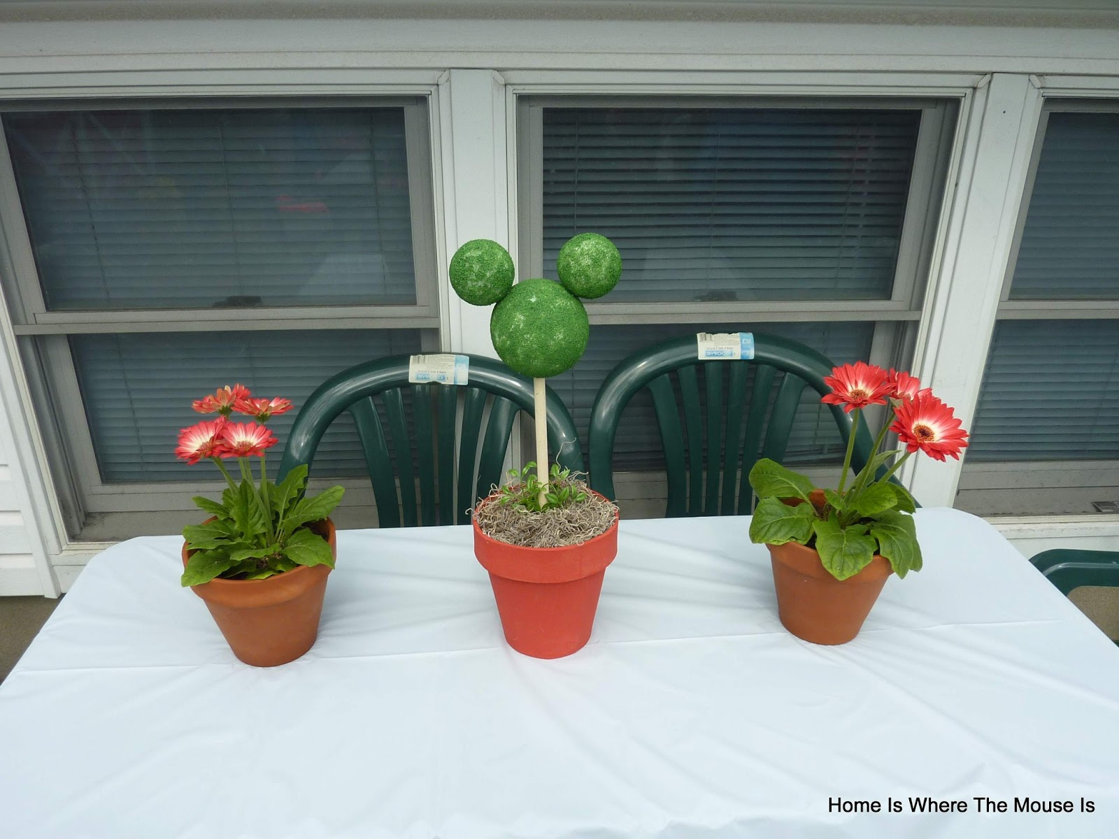 This simple topiary craft is made from styrofoam and paint