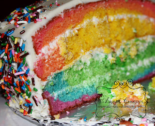 Rainbow Cake Balloons Birthday Party Images