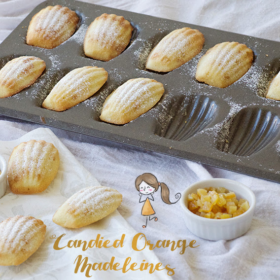 Candied Orange Madeleines