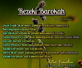 Kultum Ramadhan harivke 18 rezeki barakah