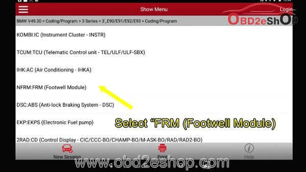 LAUNCH X431: HOW TO USE X431 PRO / PRO3 FOR BMW 2010 E-SERIES FRM