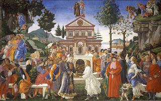 Botticelli, Capela Sistina, Tentações de Jesus Cristo