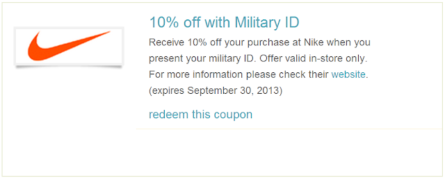meet 72039 3e644 If you have Military ID, present it when you shop at Nike store and you