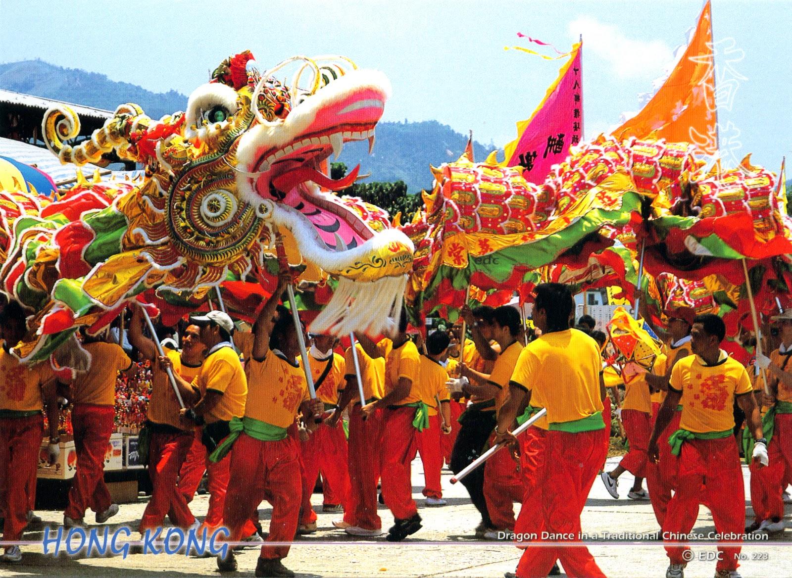 0431 china hong kong the dragon dance - Chinese New Year Dragon Dance
