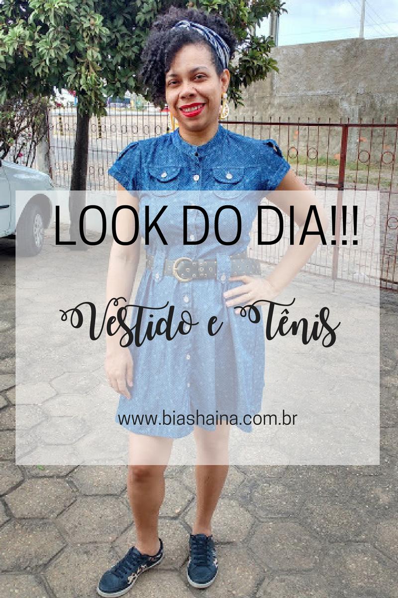 Cantinho Beatriz Shaina Look Do Dia Vestido Jeans E Tênis