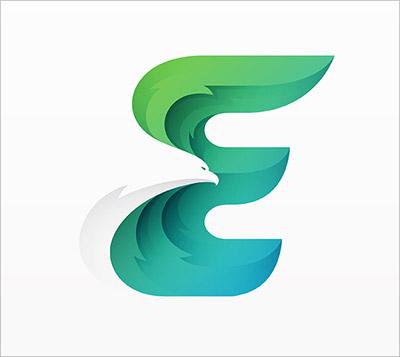 Trend Desain logo Tahun 2018 - Offset & Overlapping Gradients