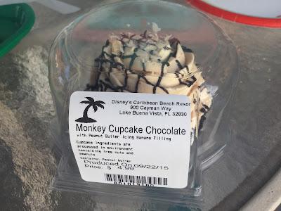 monkey cupcake at Old Port Royale at Caribbean Beach Resort at Disney