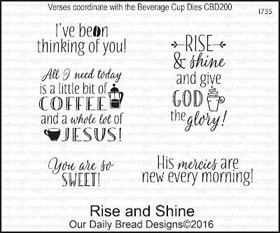 Our Daily Bread Designs Stamp Set: Rise and Shine