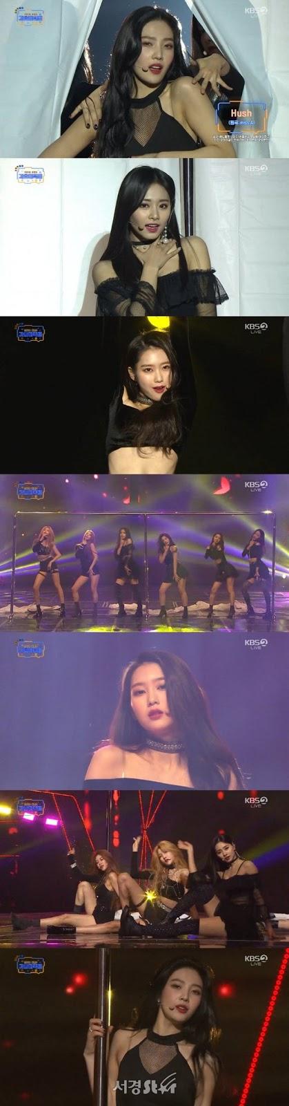 Kız grupları '2018 KBS Gayo Festival'de 'Hush' şarkısını coverladı