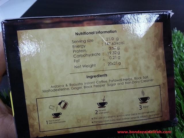 MILAGRO COFFEE MINUMAN KESIHATAN BERASASKAN HERBA PATAWALI