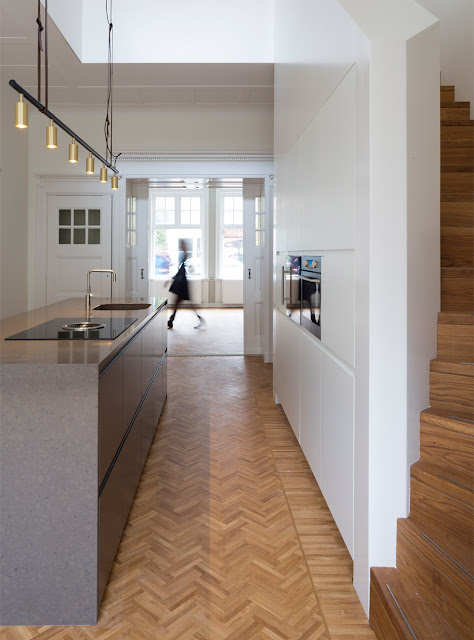 Herringbone Parquet Was Used In This Dutch Townhouse Renovation By Antonia Reif 1