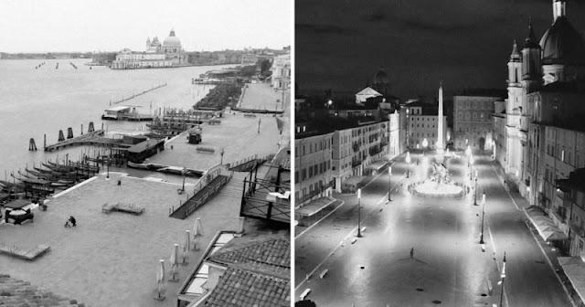 """Fotografo utilizza webcam pubbliche per """"fotografare"""" le deserte città italiane"""