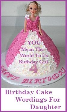 Birthday Cake Wordings Daughter