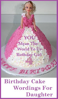 Birthday Cake Wordings Ideas Daughter