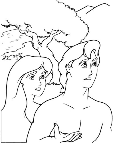 Evangelizando crian as hist ria b blica ad o e eva eo pecado for Coloring pages adam and eve